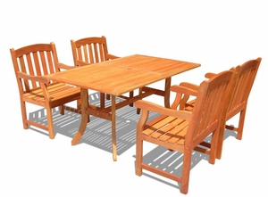 Outdoor Rectangular Curvy Dining Set by Vifah
