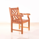 Outdoor Wood Arm Chair by Vifah