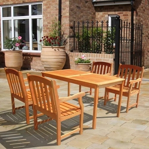 Outdoor Wood English Garden Dining Set by Vifah