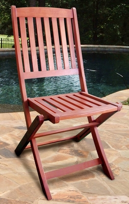 Outdoor Wood Folding Bistro Chairs (Set of 2) by Vifah