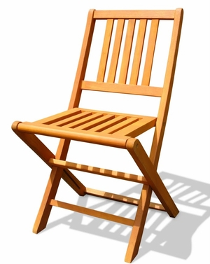 Outdoor Wood Folding Chair Set of 2 by Vifah