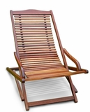 Outdoor Wood Reclining Folding Lounge by Vifah