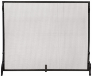 Outstanding Single Panel Black Wrought Iron Sparkguard - Medium