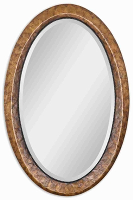 Oval Vanity Wall Mirror with Antiqued Capiz Shell Frame Brand Uttermost