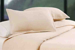 Oversized King Quilt Set - Flax Houndstooth Style Luxury Bedding Brand C&F