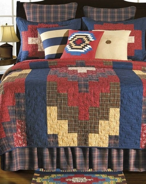 Oversized Queen Quilt - Bold And Native Durango Style Luxury Bed Brand C&F