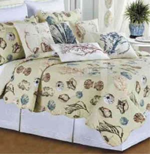 Oversized Queen Quilt - Histoire De La Mer Nautical Luxury Quilt Brand C&F