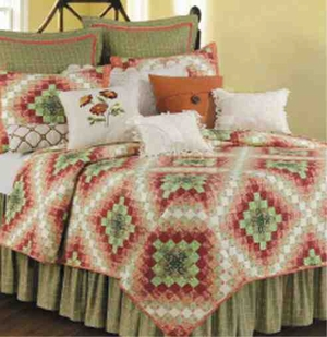 Oversized Queen Quilt - Ireland Luxury Quilt With Diamond Rose Brand C&F