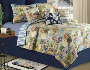 Oversized Queen Quilt - Islang Surf Rider Style Luxury Bedding Brand C&F