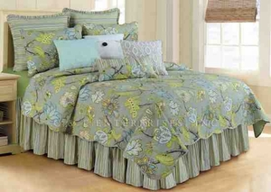 Oversized Queen Quilt - Nottingham Luxury Quilt With Moonlight Garden Brand C&F
