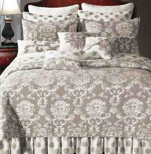 Oversized Queen Quilt - Providence Quilt With Regal Floral Pattern Brand C&F