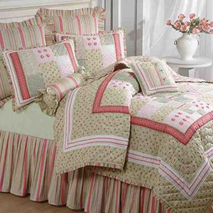 Oversized Queen Quilt - Rikki Rose Boquet Style Luxury Bedding Brand C&F