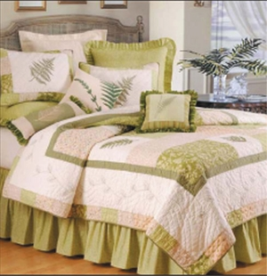 Oversized Twin Quilt - Breezy Fern Valley Style Luxury Bedding Brand C&F