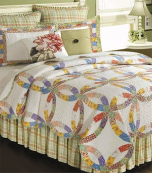 Oversized Twin Quilt - Briar Wedding Ring Style Luxury Bedding Brand C&F