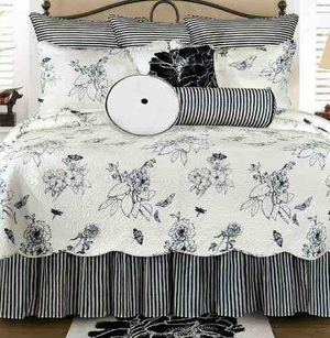 Oversized Twin Quilt - Dandridge Luxury Quilt With Botanical Flowers Brand C&F