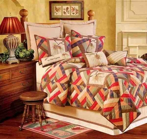 Oversized Twin Quilt - Dramatic Bed Fit For A Wilderness Lodge Brand C&F