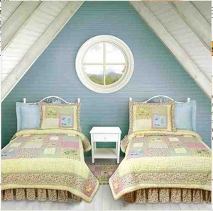 Oversized Twin Quilt - Floral Flutterbye Garden Style Luxury Bed Brand C&F