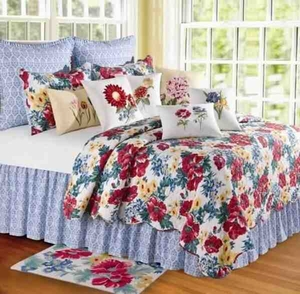 Oversized Twin Quilt - Lush Luxury Madeline Garden Style Bed Brand C&F