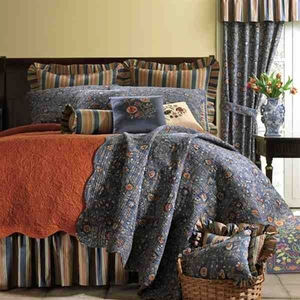 Oversized Twin Quilt - Luxury English Wakefield Style Garden Bed Brand C&F