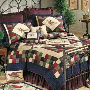 Oversized Twin Quilt - Luxury Whispering Pine Forest Style Bed Brand C&F