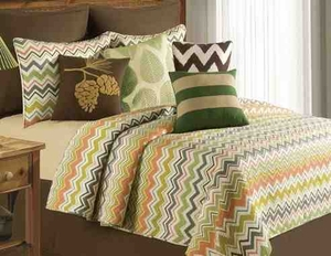 Oversized Twin Quilt - Modern Whimsical Tazzo Style Luxury Bed Brand C&F