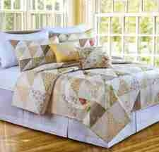 Oversized Twin Quilt - Nora Luxury Quilt With Triangle Patches Brand C&F