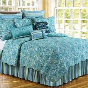 Oversized Twin Quilt - Oceana Luxury Quilt With Ocean Coral Brand C&F