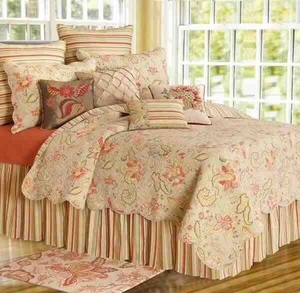 Oversized Twin Quilt - Ronaldo Luxury Vintage Garden Style Bed Brand C&F