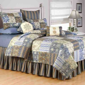 Oversized Twin Quilt - Siena Luxury Rich Tapestry Pattern Bed Brand C&F