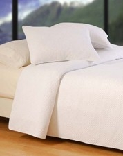 Oversized Twin Quilt - Ultra White Hampton Style Luxury Bedding Brand C&F