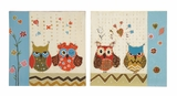 Owl Sassy Styled Canvas Art 2 Assorted by Woodland Import
