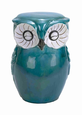 Owl Shaped Ceramic Stool with Contemporary & Fashionable Styling Brand Woodland