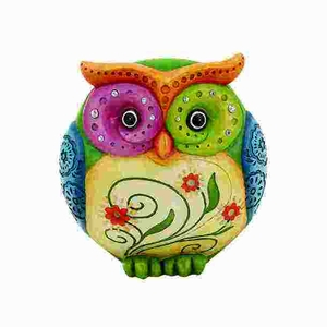Owl Table Top Accessory Made of Durable Resin in Glossy Finish Brand Woodland