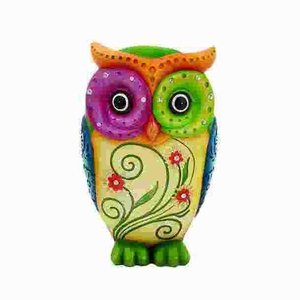 Owl Table Top Decorative Accessory Made of Durable Resin Brand Woodland