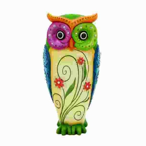 Owl Table Top Showpiece Made of Durable Resin in Glossy Finish Brand Woodland