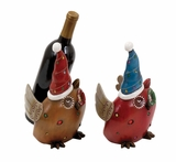 Owl Wine Holder 2 Assorted For Holiday Decor