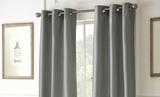 Pack of Two Black Out Curtains in Charcoal Shade
