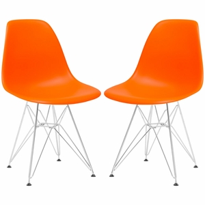Padget Side Chair in Orange (Set of 2)