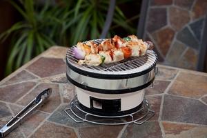 Padua Charcoal Grill, Compact And Adjustable Cooking Unit by Well Travel Living