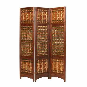 Palm Brass Screen Wood Panel, 55 Inch Length x 71 Inch Height Brand Screen Gems
