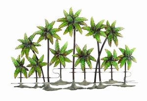 Palm Island Metal Palm Wall Decor - 64240 by Benzara