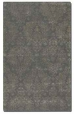 """Paris Blue Grey 16"""" Wool and Viscose Blend Rug with Taupe Details Brand Uttermost"""