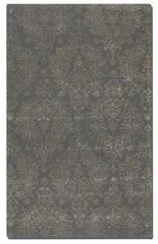 Paris Blue Grey 5' Wool and Viscose Blend Rug with Taupe Details Brand Uttermost