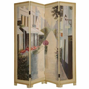 Paris Promenade Screen Hand Painted with Intricate Detailing Brand Screen Gem