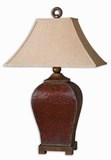 Patala Crackled Red Table Lamp with Bronze Accents Brand Uttermost
