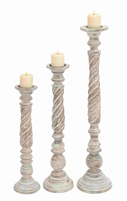Patras Candle Holder Glowing Design Divine Set Brand Benzara