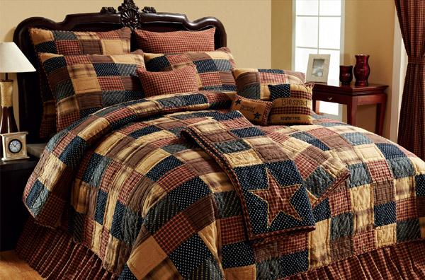 Vhc Brands 10428 Patriotic Patch Luxury King Size Quilt