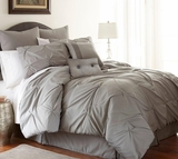 Ella Eight Piece Embellished Queen Size Comforter Set in Platinum Color