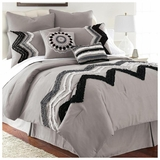 PCT Home collection 8 pc embellished comforter set - Kira Platinum Queen by Amrapur Overseas