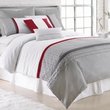 PCT Home collection 8 pc embroidered comforter set - Dexter King by Amrapur Overseas